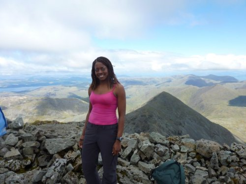 at the summit of Ben More, Isle of Mull