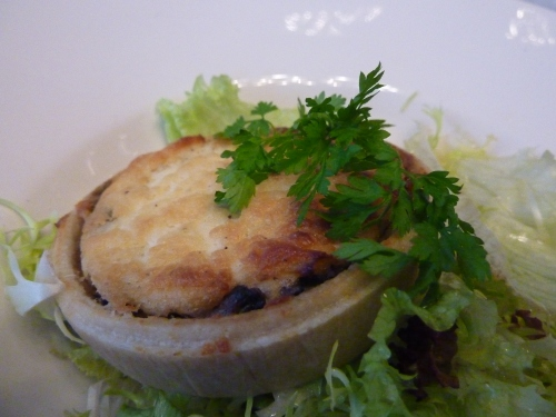 Wild mushroom & leek tartlet at Bread Street Brasserie