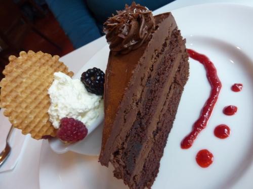 Chocolate cake at Zanzero