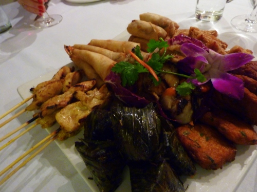 Starting platter at Dusit Thai