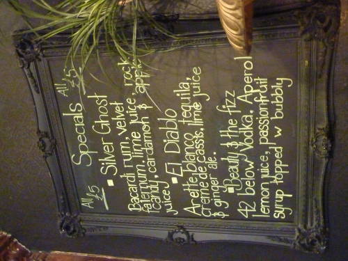 Bewitching menu at The Voodoo Rooms