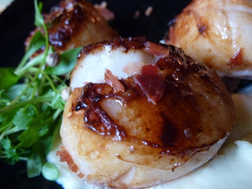 Scallops at The Voodoo Rooms